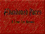 Abandoned Places: A Time For Heroes - Amiga